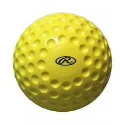 PMY9 - RAWLINGS Palla da Baseball yellow dimpled ball 1 dozzina