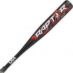 "US8R10 Rawlings Raptor USA 2 1/4"" Barrel -10 Youth Baseball Bat"