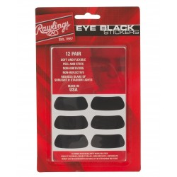 RAWLINGS BLACK 12 PAIR STICKERS