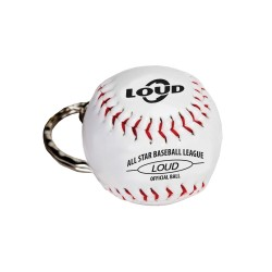 LOUD BASEBALL KEYCHAIN WHITE