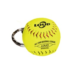 LOUD SOFTBALL KEYCHAIN