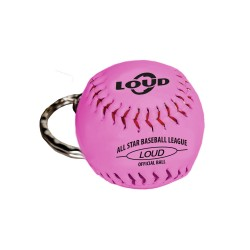 LOUD SOFTBALL KEYCHAIN PINK